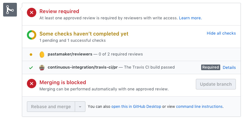 A safe GitHub workflow with Pastamaker